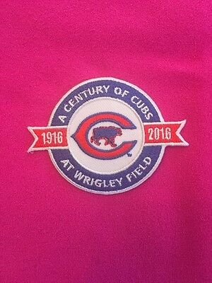 Chicago Cubs Century Jersey Patch 1916-2016 Wrigley Field Iron On Sew On Jacket