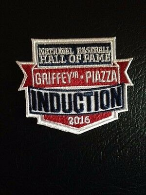 Griffey Jr Mike Piazza 2016 MLB HOF Jersey Patch Iron On Sew on Shirts Jackets