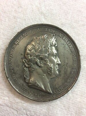 King Louis Philippe of France Barre Medal Princess Adelaide D'Orleans