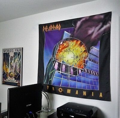 DEF LEPPARD Pyromania HUGE BANNER fabric poster tapestry flag cd album