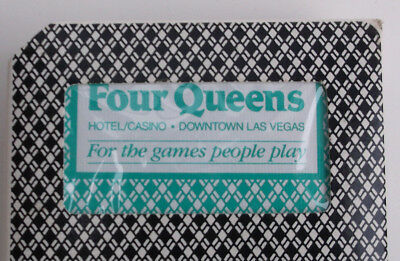 CASINO PLAYING CARDS  DECK FOUR QUEENS  - Used Cut & Resealed by Casino w/ Seal