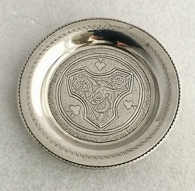 Egyptian 900 Solid Silver Engraved Pin Dish/tray - Cairo, 1942 -1943