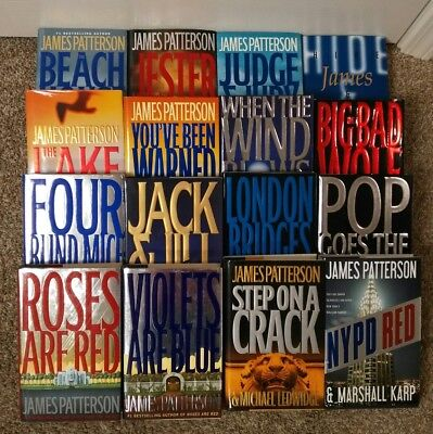 Lot of 16 James Patterson Hardcovers Alex Cross Michael Bennett NYPD Red