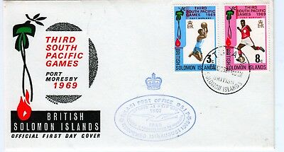 SOLOMON ISLANDS 1969 TULAGI PO Re-opened CACHET on SPG Cover
