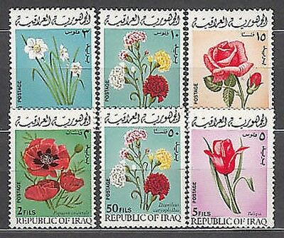 Iraq - Mail Yvert 579/84 Mnh Flowers