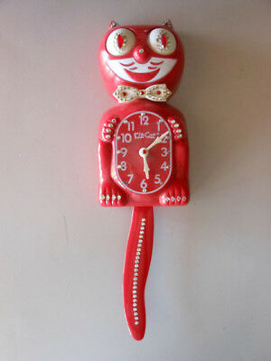 Vintage Kit Kat Klock Red Jeweled