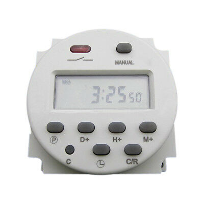 CN101 AC 110V Digital LCD Power Programmable Timer Time Relay Switch NEW