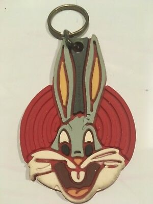 Vintage, 1989 Bugs Bunny Key Chain, WB symbol, Good used condition***
