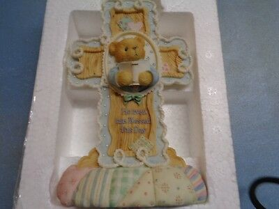 """Rear Cherished Teddies """" Heaven Has Blessed This Day"""" 6"""" Tall With Originl Box"""