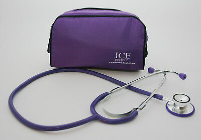 Purple Stethoscope With Purple Bag - Student, Nurse, Vets Brand New