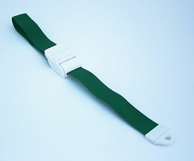 GREEN Tourniquet with white clip QUICK and SLOW Release!!! New!