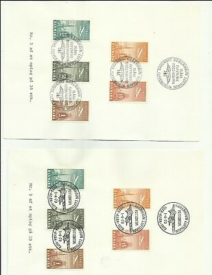 Denmark 1979/80 early air stamps on souvenir sheets