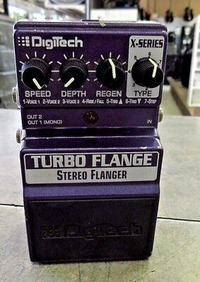 DigiTech X-Series Turbo Flange Stereo Flanger Effects Pedal Purple $Nice$