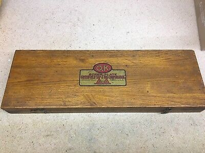 Vintage Greenfield Screw Plate 5 Sizes No.1 Tap and Die Set With Wood Box *Rare*
