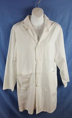 DICKIES White Lab Coat Sz Extra Small Double Pockets Unisex XS