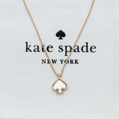 Kate Spade New York Signature Spade Imitation Mother of Pearl Pendant Necklace