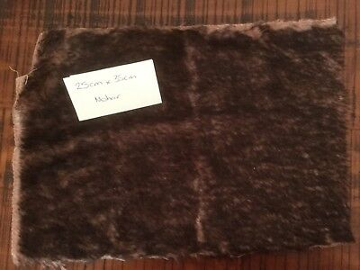 1 X Bear Fur / Chocolate Brown tips with a light brown base. / Mohair