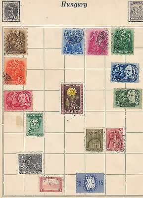 HUNGARY Mainly Early Stamps on old Album Page MINT/USED.