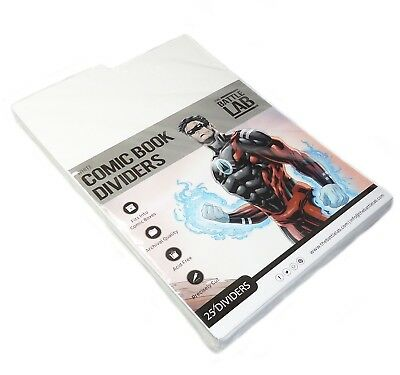 Battle Lab - Premium White Comic Book Dividers 25 pk
