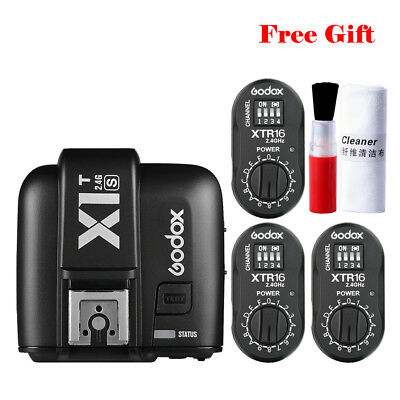 Godox 2.4G X1T-S Transmitter Trigger XTR-16 Monolight Receiver For Sony A7 A7RII