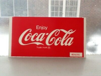 Coca-Cola plastic insert for lighted vending machine button 1960's. Mint!!