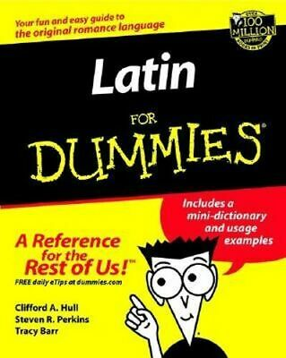 NEW Latin For Dummies By Clifford A. Hull Paperback Free Shipping