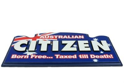 AUSTRALIA DAY CITIZEN Wall Sign - Man Cave Wooden Sign