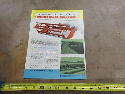 Vintage DUAL Tractor Loader Windrower-swather brochure
