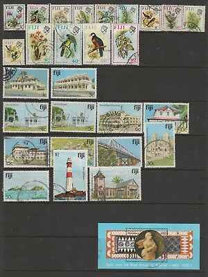FIJI Collection Incl BIRDS to $2 FINE USED #