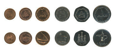 United Arab Emirates - UAE 1 Fils-1 Dirham 6 Piece Full Coin Set, 1973-2014,Mint