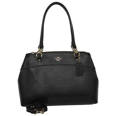 29fcfc928c06b NWT Coach F25926 Leather Large Brooke Carryall Crossbody Handbag Purse Black