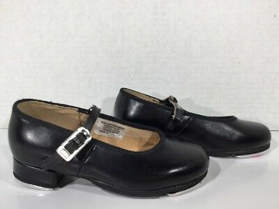 BLOCH Girls Size 9 Black Mary Jane Man Made Tap Dance Shoes K9-519*