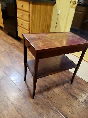 grand rapids furniture mahogany, vintage end table