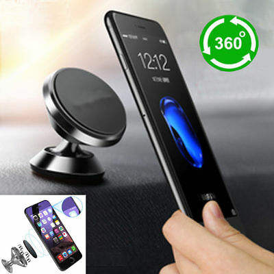 360°Universal Magnetic Car Mount Cell Phone Holder Stand For Mobile Phone GPS FG