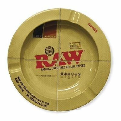 """""""RAWTHENTIC"""" 5 1/2"""" Round Metal Ashtray by RAW™ Natural Unrefined Rolling Papers"""