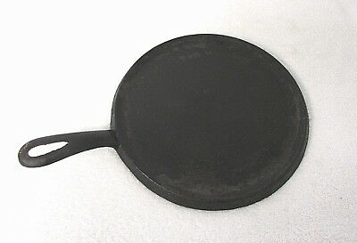 "ANTIQUE Cast Iron 8"" Round Griddle ""A"" & ""8"" Marking OLD Cookware Vintage RB3"