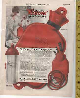 1919 Douchebag & 1927 Toilet Seat Church & Faultless Rubber Company 2 ADS