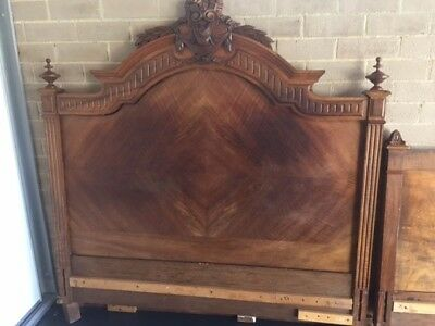 Antique Double Bed- 19 Century French Walnut