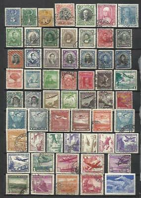 G213-Lote Stamps Chile Without Price Different Tax, With 1 Or 2 Amortiza.class