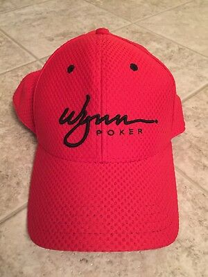 Wynn Poker Las Vegas Ladies Or Mens Hat Red With Black S/m