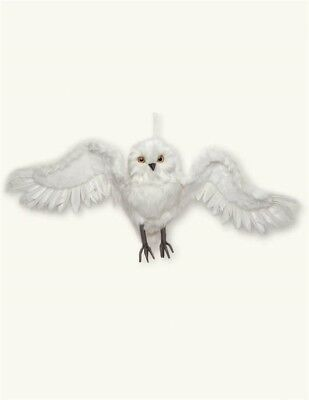 Victorian Trading Co Flight of Minerva the Owl White Feather Ornament  NIB