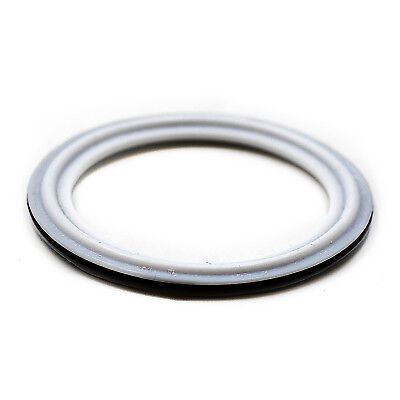 """HFS(R) 1.5"""" VITON with PTFE coved Gasket Fits Sanitary Tri Clamp Type Ferrule"""