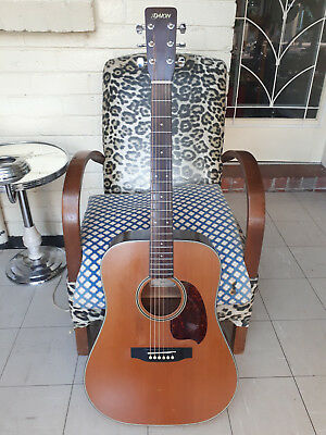 Vintage Daion Mark I acoustic guitar 80s Korea X-braced old dreadnought folk