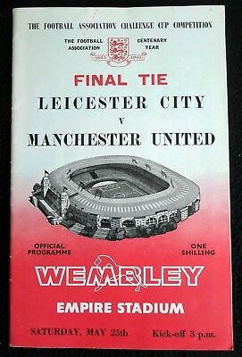 Leicester City v Manchester United FA Cup Final  25-5-1963
