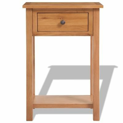 Console Table Solid Oak 50 x 32 x 75 Cm - Brown