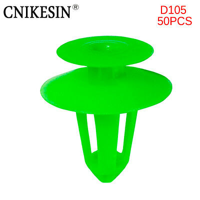 CNIKESIN 50p 8mm Car Fastener Door Guard Plate Retainer Fixed Clips for Benz 124