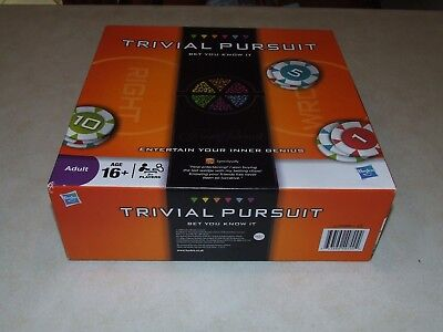 Trivial Pursuit Bet You Know It Hasbro Board Game - Complete