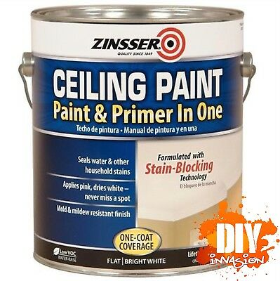 Zinsser Ceiling Paint & Primer in One 3.78L Stain Sealer Mould Resistant White