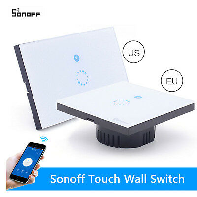 WIFI Smart Wall Light Touch Remote Control Wall Switch Panel For Amazon Alexa FI