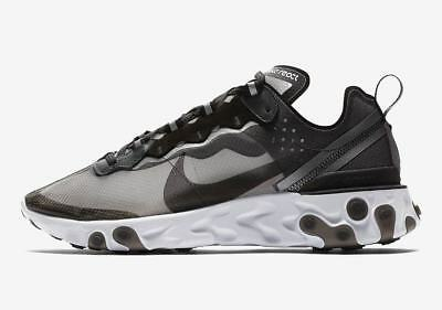 NEW DEADSTOCK Nike React Element 87 Black/Anthracite AQ1090-001 ORDER CONFIRMED!